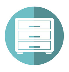 file cabinet archive workplace shadow vector image