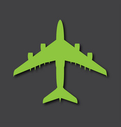 Airplane logo big airliner with drop shadows vector