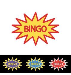 Bingo lotto lottery logo template vector