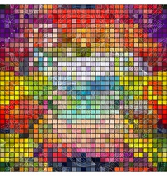 Seamless colorful mosaic pattern vector image