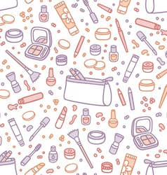 Decorative cosmetics seamless pattern vector image