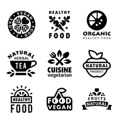 Fresh organic labels and elements vector