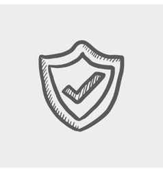 Best seller guaranteed badge sketch icon vector