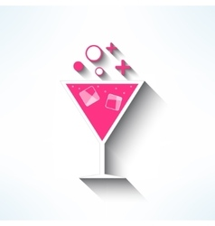 Cocktail symbol made in modern flat design vector