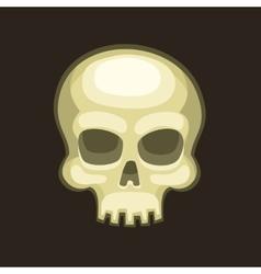 Halloween Skull in Cartoon Style on Dark vector image