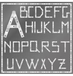 Metal latin alphabet vector
