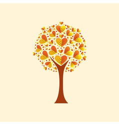 Heart-shaped leaves vector