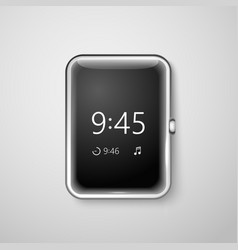 Modern digital watches template Place your content vector image