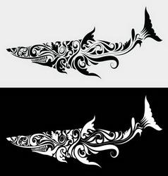 Shark ornament vector