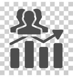 Audience Chart Trend Icon vector image