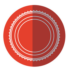 badge label decoration stamp template red circle vector image