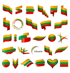 biggest collection of flags of Lithuania vector image vector image