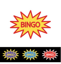 Bingo lotto lottery logo template vector