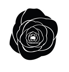 Black silhouette of rose vector
