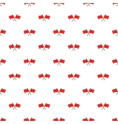 Crossed flags of china pattern cartoon style vector