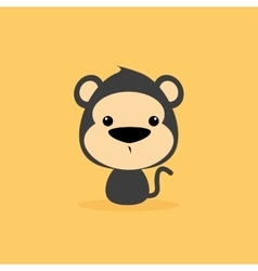 Cute cartoon wild monkey vector