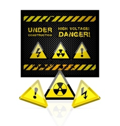 danger grunge background vector image vector image