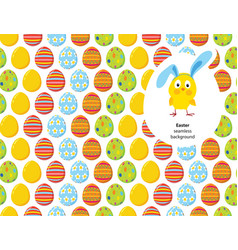 Easter decorated eggs seamless pattern vector