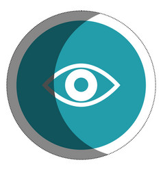 Eye view isolated icon vector