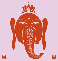 Ganesh and lotuses poster vector image