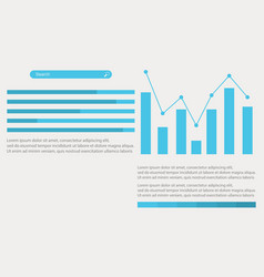 Graphic design for business infographic vector