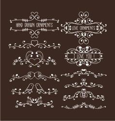 hand drawn ornaments vector image vector image