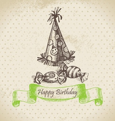 Happy Birthday hand drawn vector image vector image