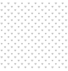 heart pattern seamless gray and white background vector image vector image
