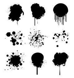 ink blots vector image