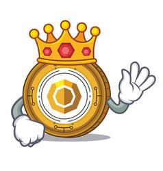 King komodo coin mascot cartoon vector