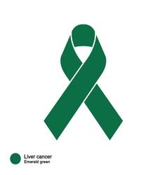 Liver Cancer ribbon vector image vector image