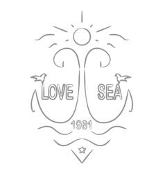 Love sea vector