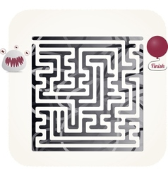 Monster maze vector image