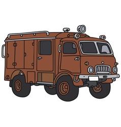 Old terrain fire truck vector