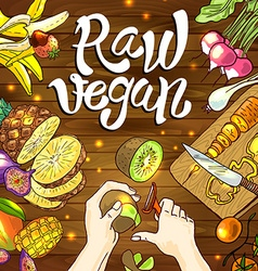 raw vegan vector image