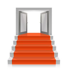 stair with open doors vector image