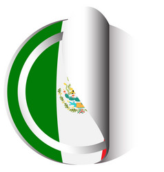 Sticker design for flag of mexico vector