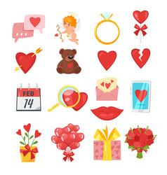 valentines day romantic symbols vector image