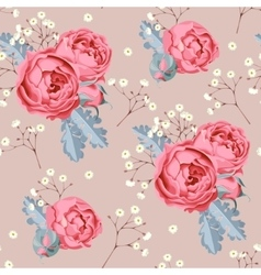 Wedding flowers seamless vector image