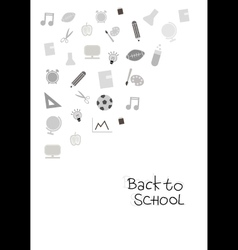 Back to school cover background vector image