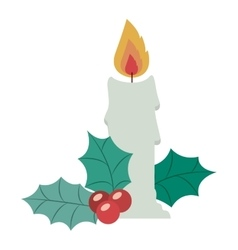 Candle of merry christmas design vector