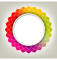 Creative Abstract Digital Flower vector image