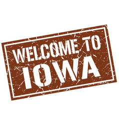 welcome to iowa stamp vector image