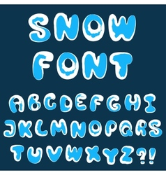 Christmas snow alphabet vector
