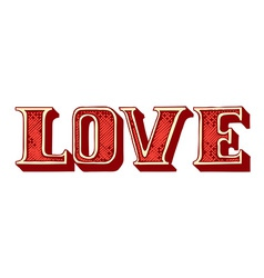 Hand-drawn love lettering vector