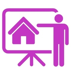 Realtor icon from business bicolor set vector