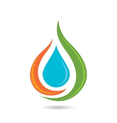 Waterdrop logo vector