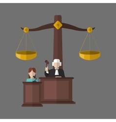 Law design justice icon grey background vector