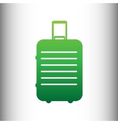 Baggage sign green gradient icon vector