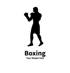 a silhouette of a boxer vector image